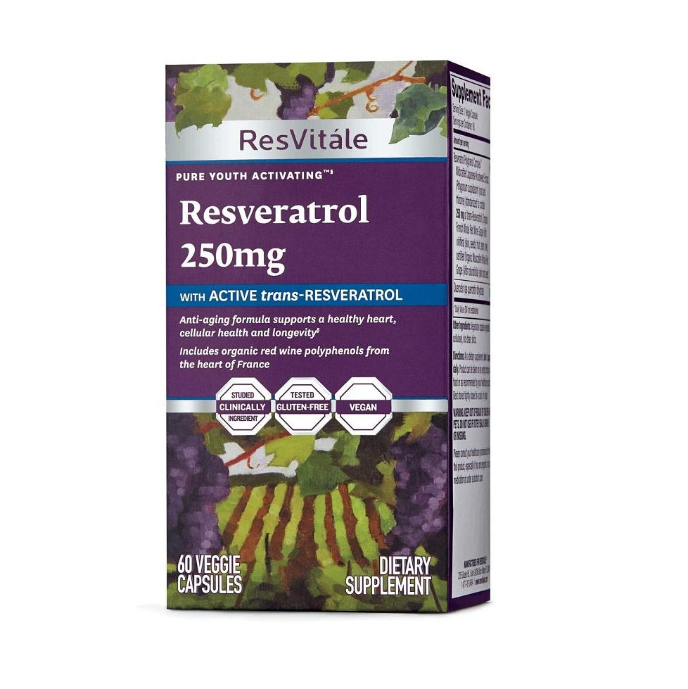 Resveratrol 250 mg, 446702, 60 capsule vegetale, ResVitale