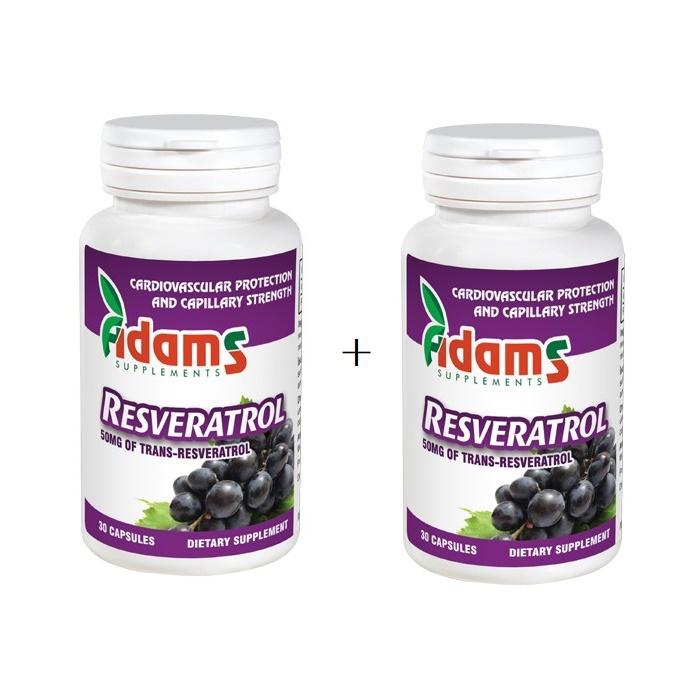 Resveratrol 50mg, 30 capsule, Adams Vision (1+1)