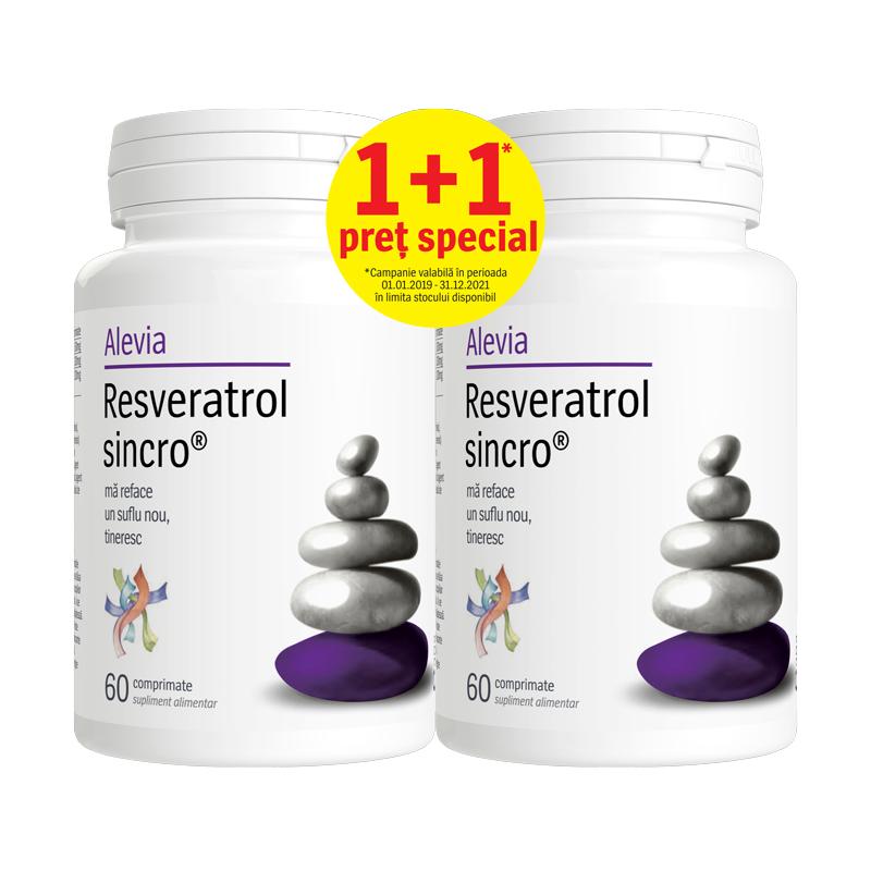 Resveratrol Sincro, 60 comprimate, Alevia (1+1 pret special)