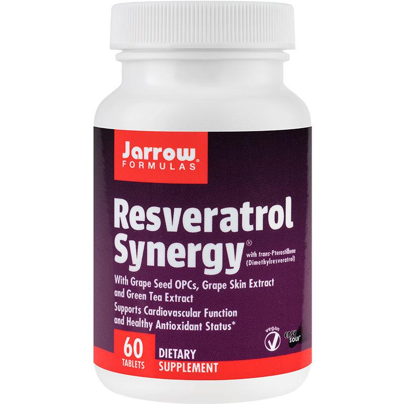 Resveratrol Synergy 20 mg Jarrow Formulas, 60 tablete, Secom