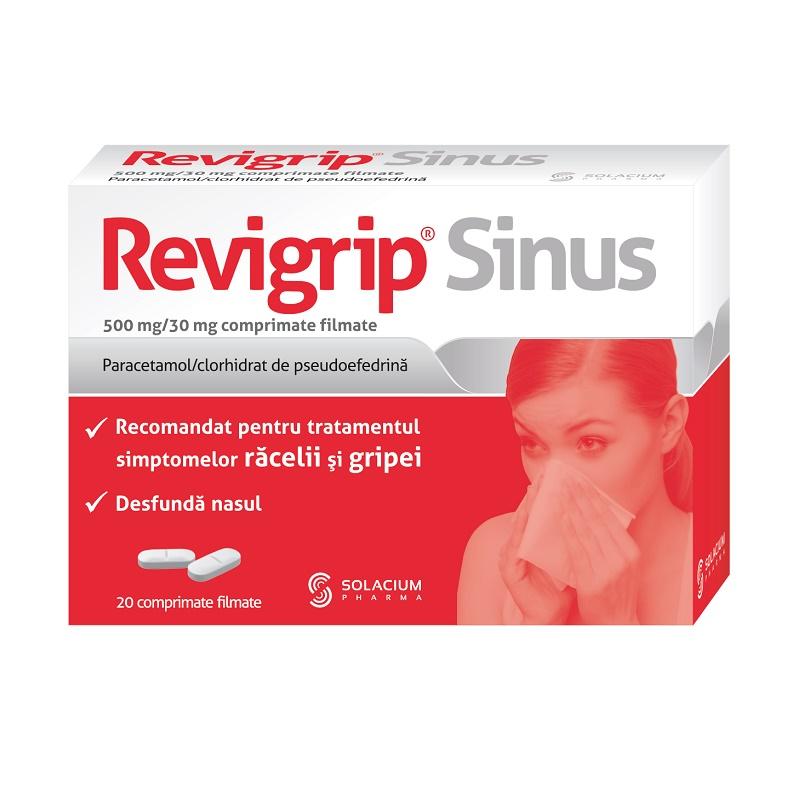 Revigrip Sinus, 20 comprimate, Solacium Pharma