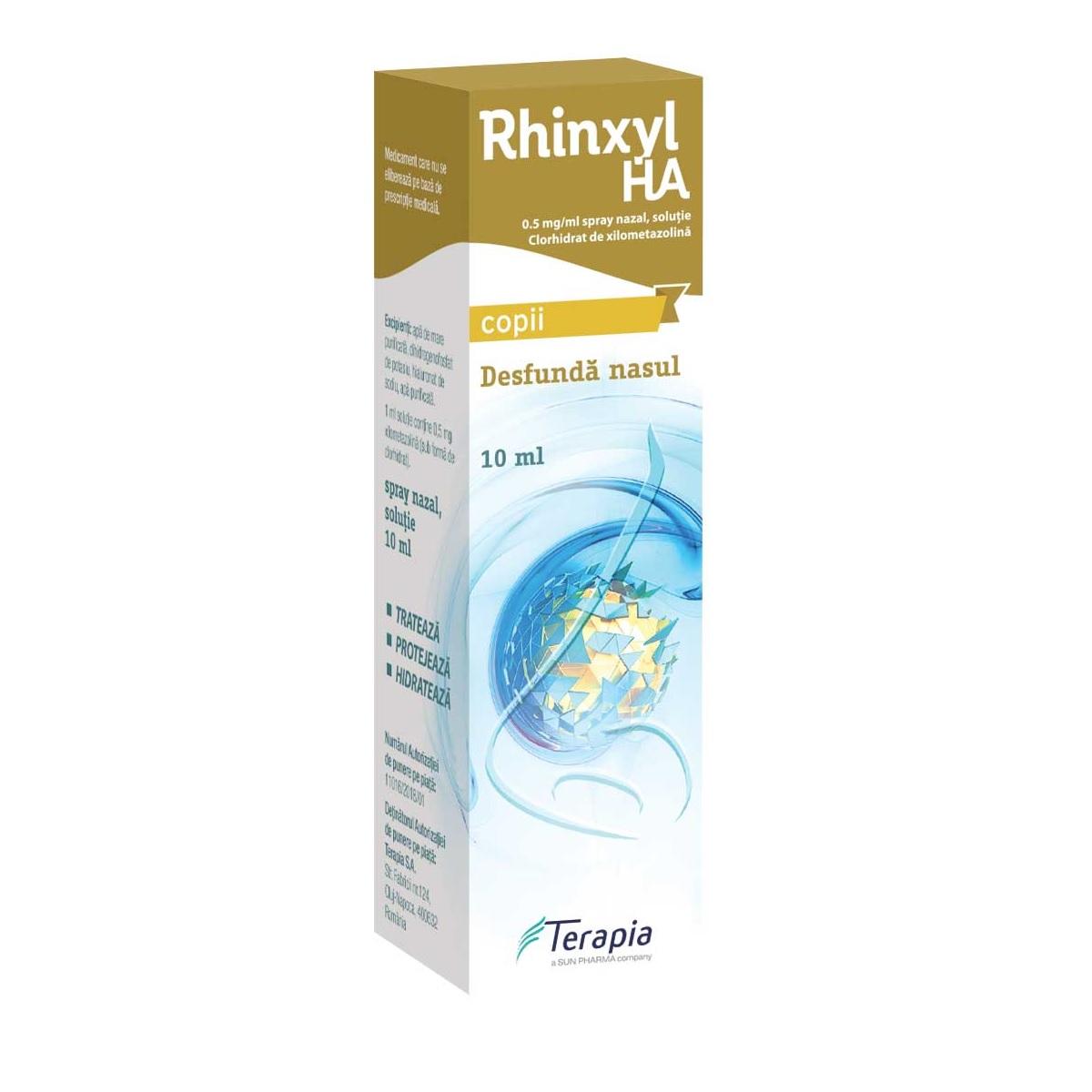 Rhinxyl Ha Copii 0.05% picături, 10ml, Terapia