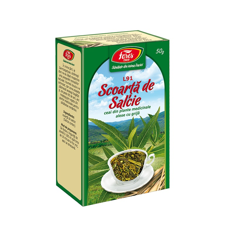 Ceai Salcie scoarta, L91, 50 g, Fares