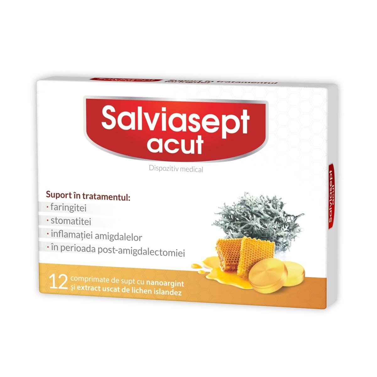 Salviasept ACUT, 12 comprimate, Natur Produkt