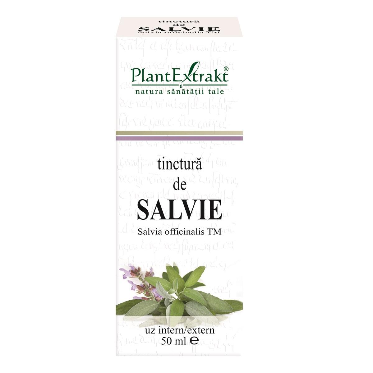 Tinctură de Salvie, 50 ml, Plant Extrakt
