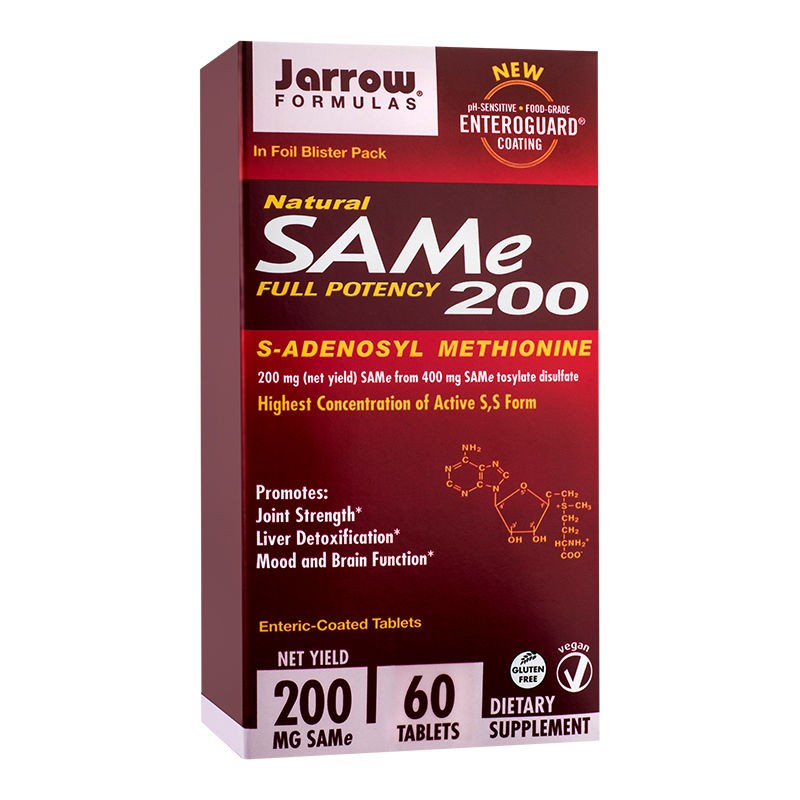 Sam-e Full Potency 200mg Jarrow Formulas, 60 tablete, Secom