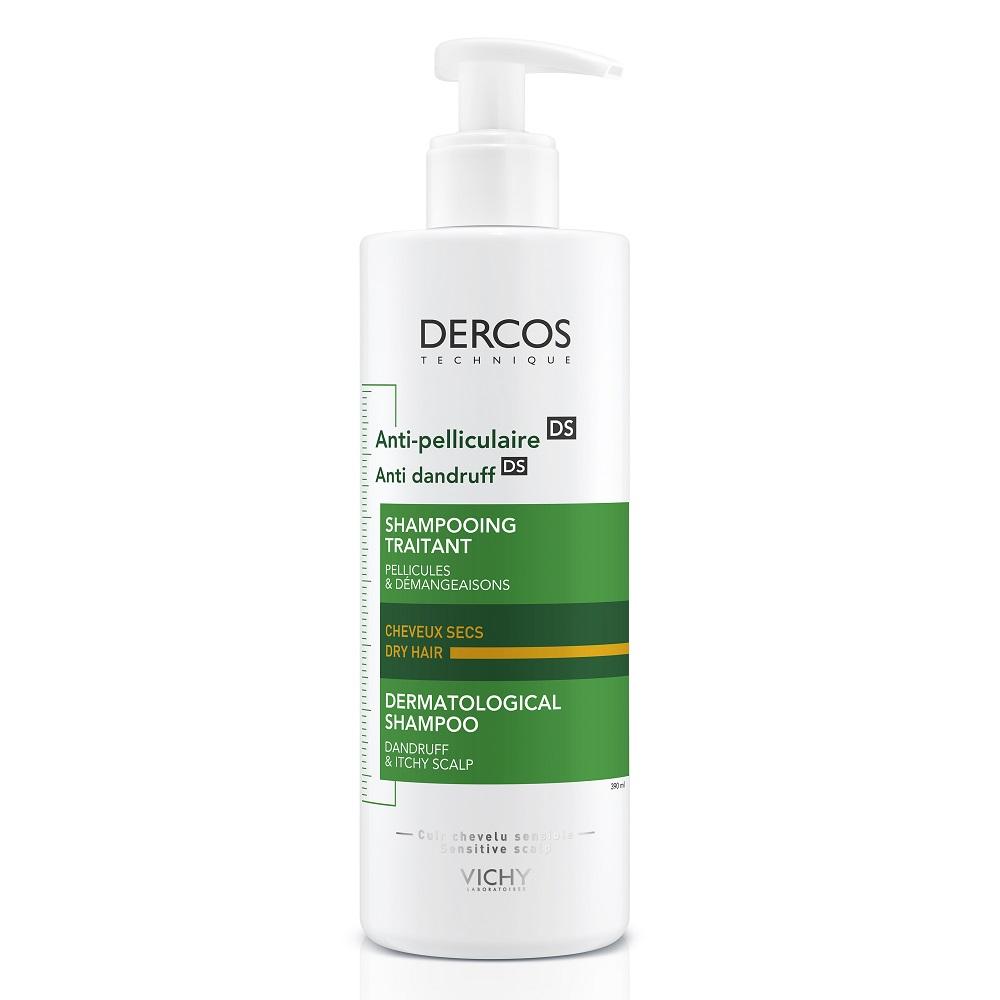Şampon anti-mătreață pentru păr uscat Dercos, 390 ml, Vichy
