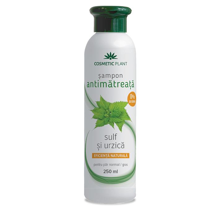 Sampon antimatreata cu sulf si urzica, 250 ml, Cosmetic Plant