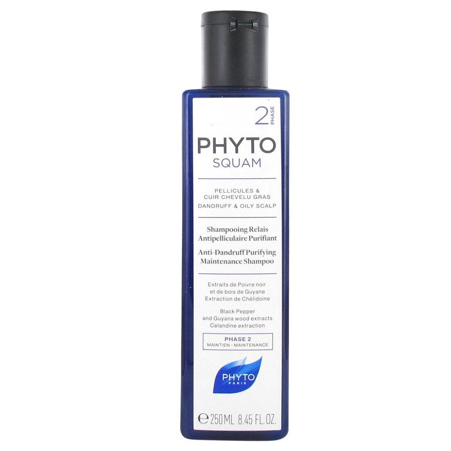 Sampon antimatreata purifiant pentru par gras Phytosquam, 200 ml, Phyto