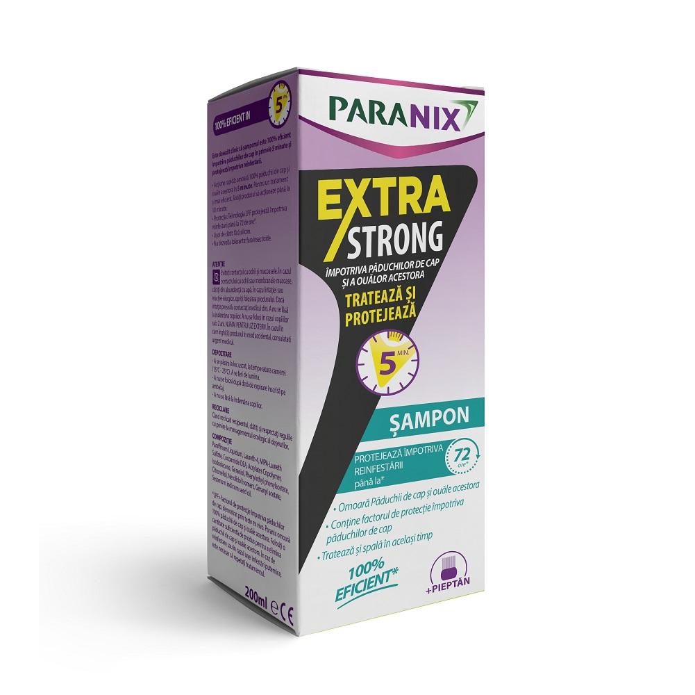 Sampon antipaduchi Extra Strong cu pieptan inclus Paranix, 200ml, Perrigo