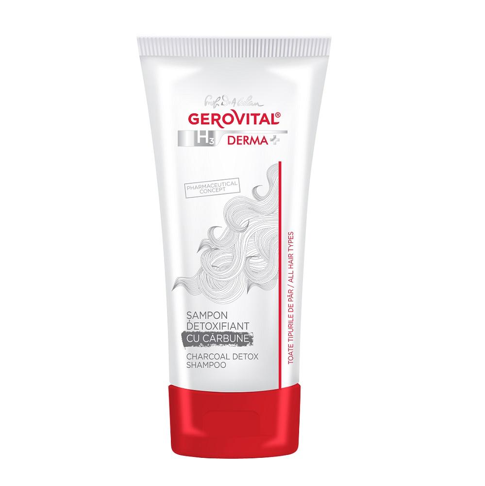 Sampon detoxifiant cu carbune Gerovital H3 Derma+, 200 ml, Farmec