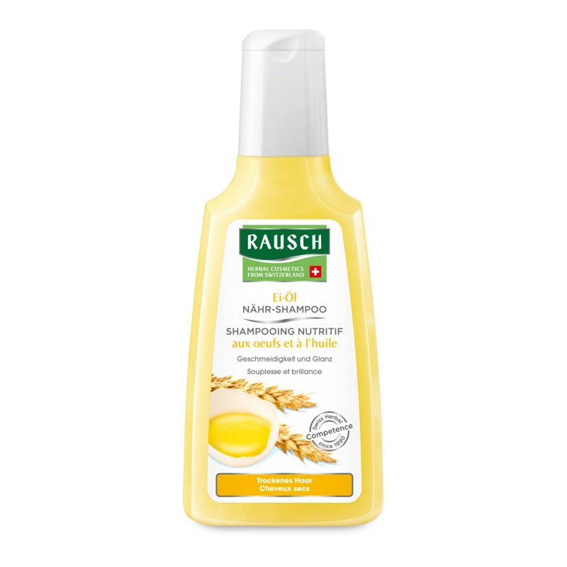 Sampon hidratant cu ou si ulei, 200 ml, Rausch