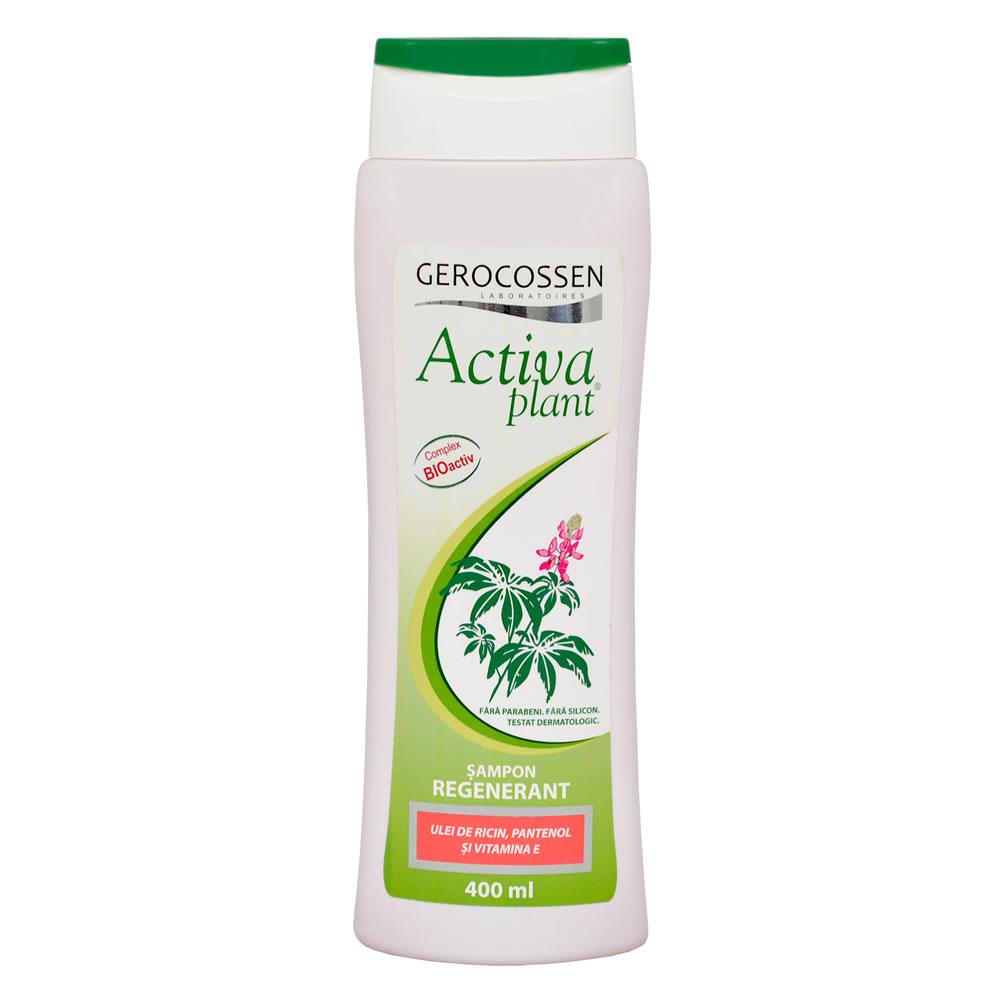 Sampon regenerant cu ulei de ricin, pantenol, vit. E Activa Plant, 400 ml, Gerocossen