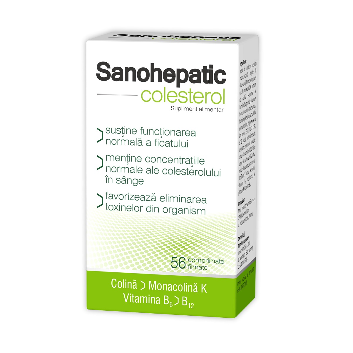 sanohepatic colesterol