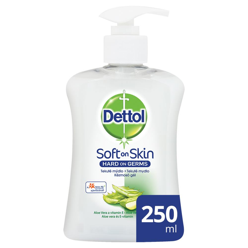 Sapun lichid antibacterian Soft on Skin Aloe Vera, 250 ml, Dettol
