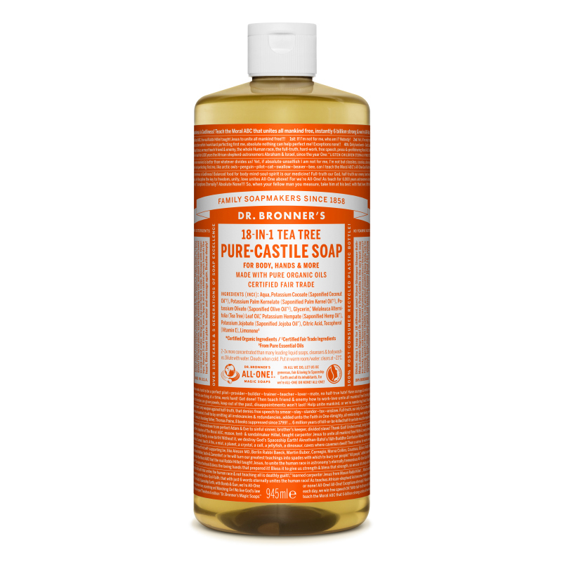 Sapun magic lichid 18in1 cu arbore de ceai, 945 ml, Dr. Bronner's