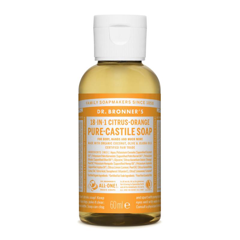 Sapun magic lichid 18in1 cu citrice pentru calatorii, 60 ml, Dr. Bronner's