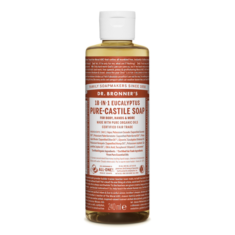 Sapun magic lichid 18in1 cu eucalipt, 240 ml, Dr. Bronner's