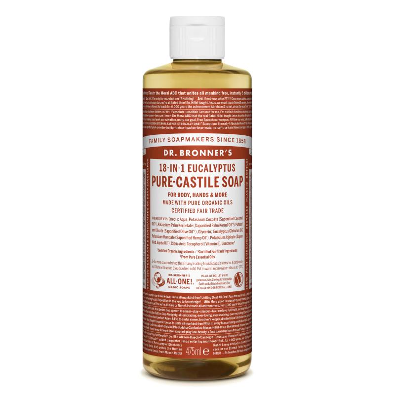 Sapun magic lichid 18in1 cu eucalipt, 475 ml, Dr. Bronner's