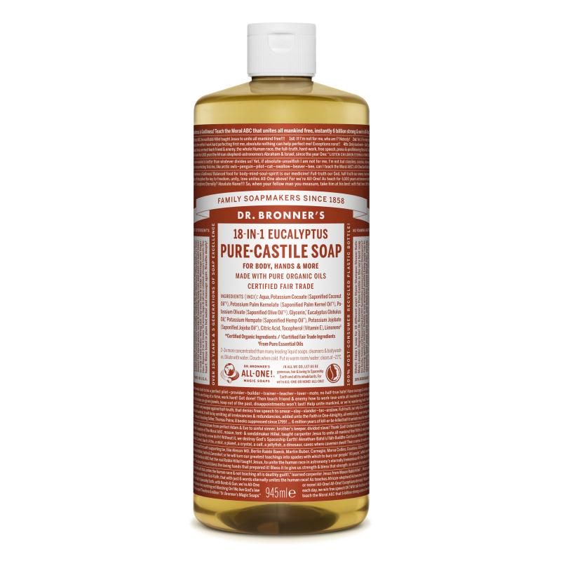 Sapun magic lichid 18in1 cu eucalipt, 945 ml, Dr. Bronner's
