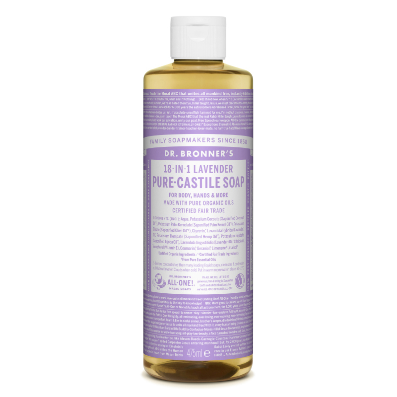Sapun magic lichid 18in1 cu lavanda, 475 ml, Dr. Bronner's