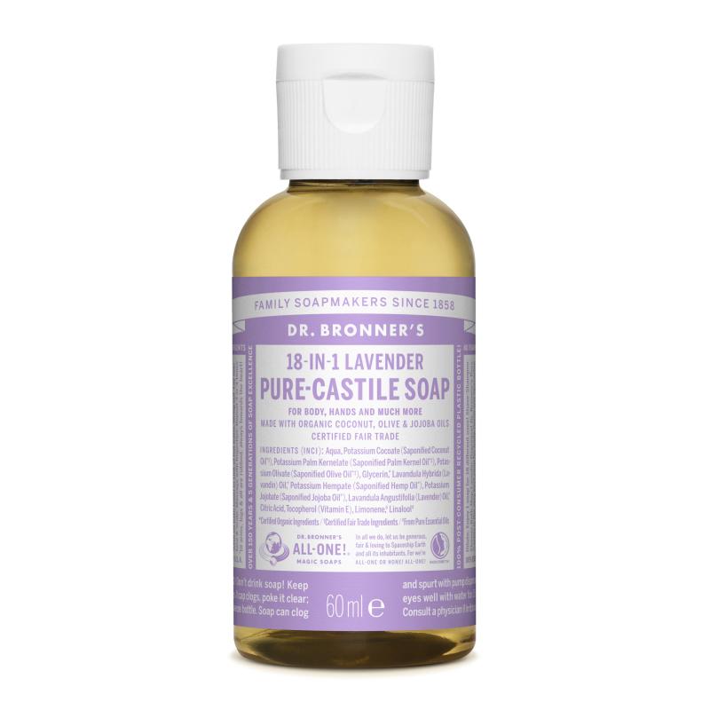 Sapun magic lichid 18in1 cu lavanda pentru calatorii, 60 ml, Dr. Bronner's