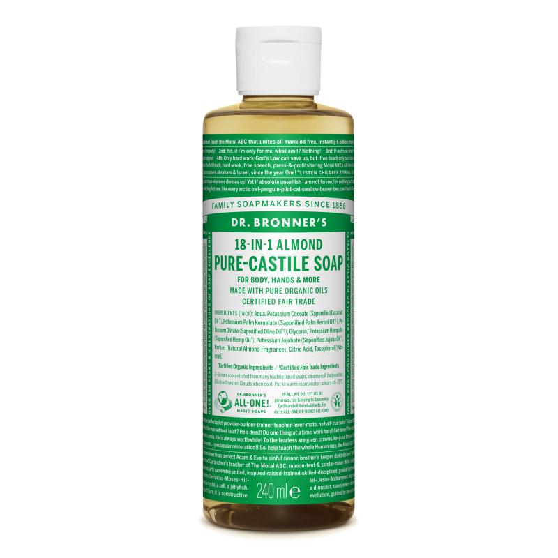 Sapun magic lichid 18in1 cu migdale, 240 ml, Dr. Bronner's