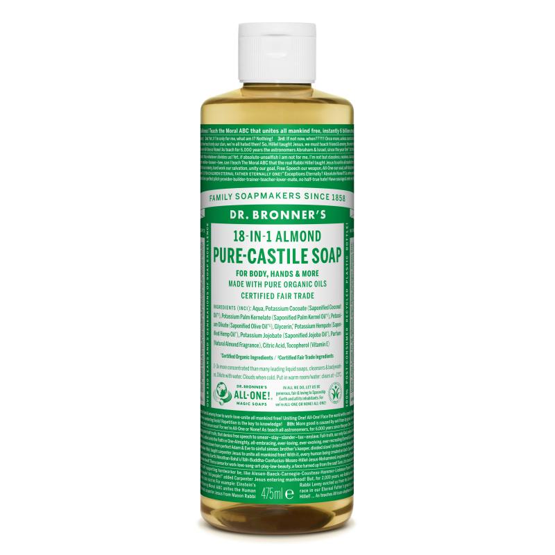 Sapun magic lichid 18in1 cu migdale, 475 ml, Dr. Bronner's