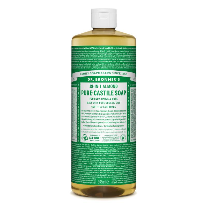 Sapun magic lichid 18in1 cu migdale, 945 ml, Dr. Bronner's