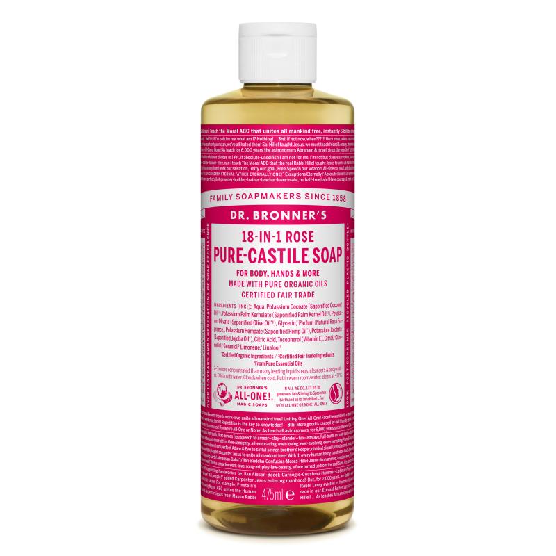 Sapun magic lichid 18in1 cu trandafiri, 475 ml, Dr. Bronner's