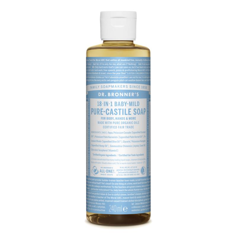 Sapun magic lichid 18in1 fara parfum pentru copii, 240 ml, Dr. Bronner's