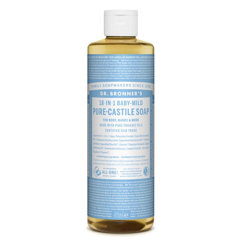 Sapun magic lichid 18in1 fara parfum pentru copii, 475 ml, Dr. Bronner's