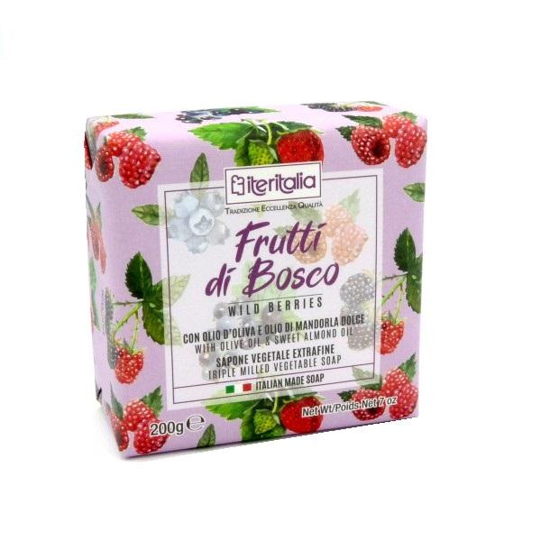 Săpun vegetal extrafin cu fructe de pădure, 200 g, Iteritalia