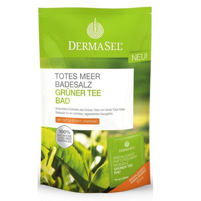 Sare de baie cu ceai verde Matcha, 400 g + 20 ml, Dermasel