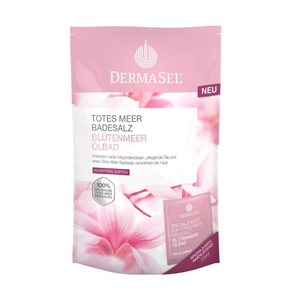 Sare de baie cu muguri de magnolie, 400 g, Dermasel