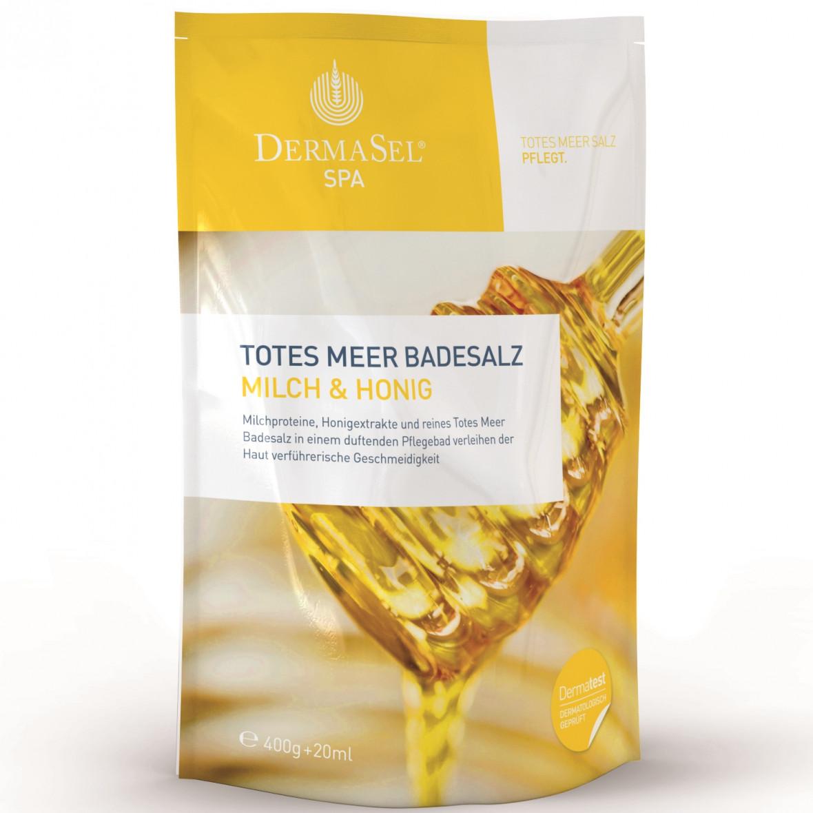 Sare de baie de la Marea Moarta cu lapte si miere SPA, 400 g, DermaSel