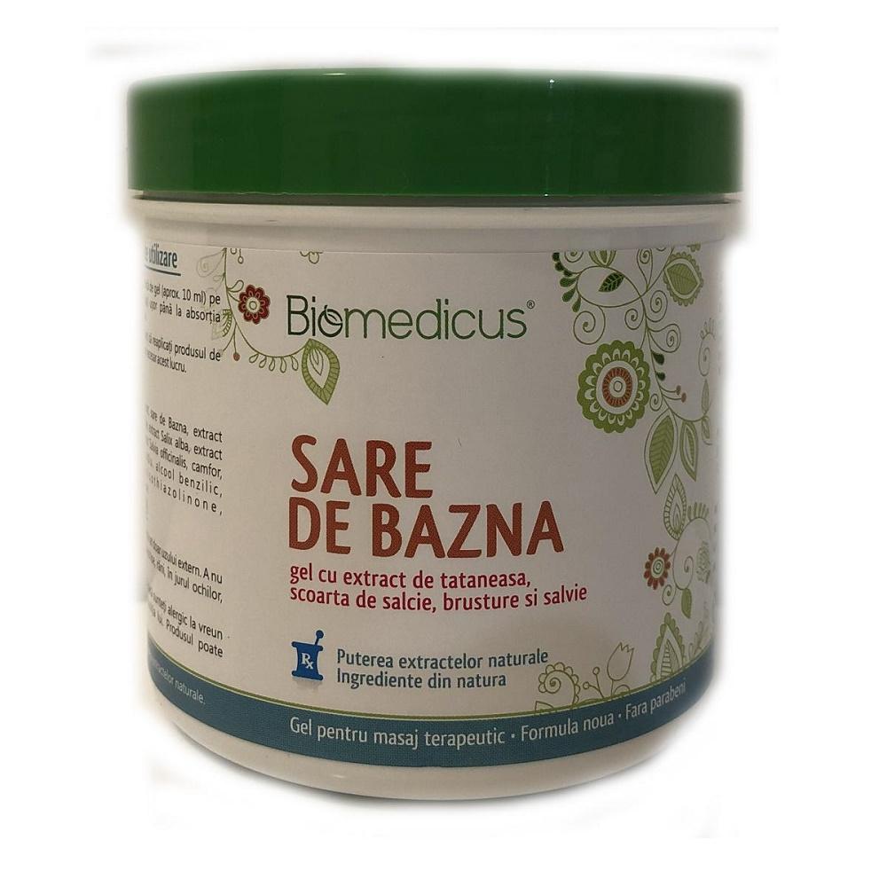 Sare de Bazna gel cu extract de tataneasa, scoarta de salcie, brusture si salvie, 250 ml, Biomedicus