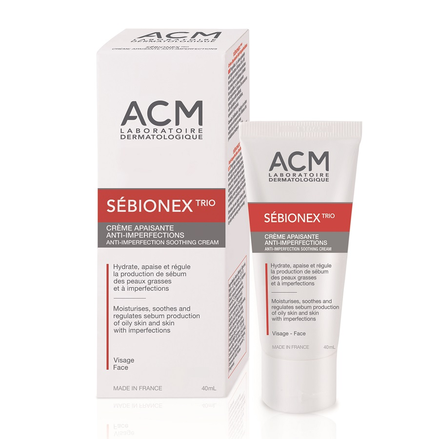 Cremă calmantă anti-imperfecțiuni Sebionex Trio, 40 ml, Acm