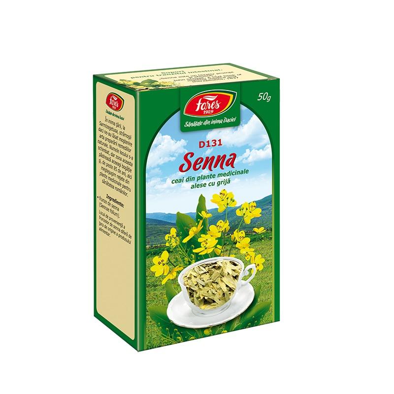 Ceai Senna frunze, D131, 50 g, Fares