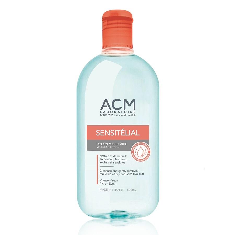 Loțiune micelară pentru față și ochi Sensitelial, 500 ml, Acm