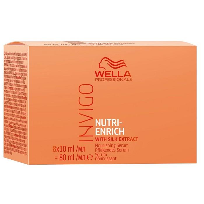 Ser pentru par uscat Invigo Nutri Enrich, 8 fiole x 10 ml, Wella Professionals