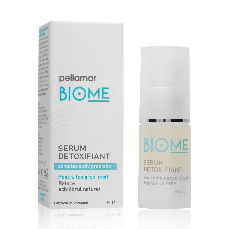 Serum detoxifiant pentru ten gras-mixt Biome, 15 ml, Pellamar