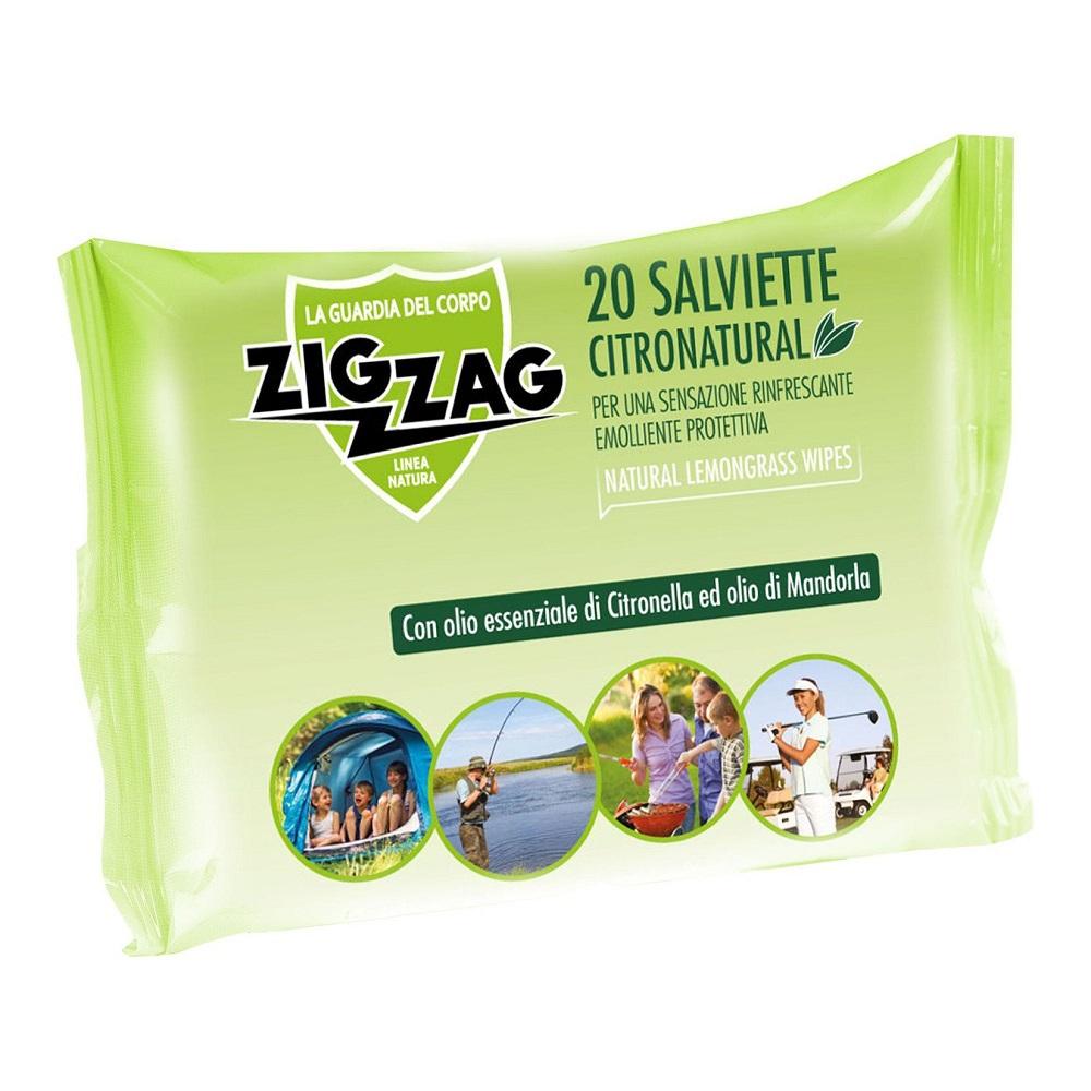 Servetele umede impotriva tantarilor Citronatural, 20 bucati, Zig Zag