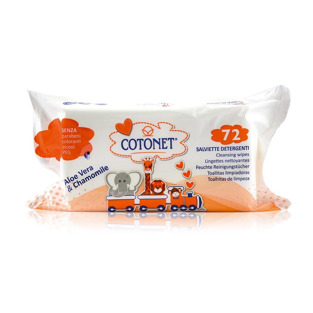 Servetele umede pentru copii Cotonet, 72 bucati, Sisma SPA