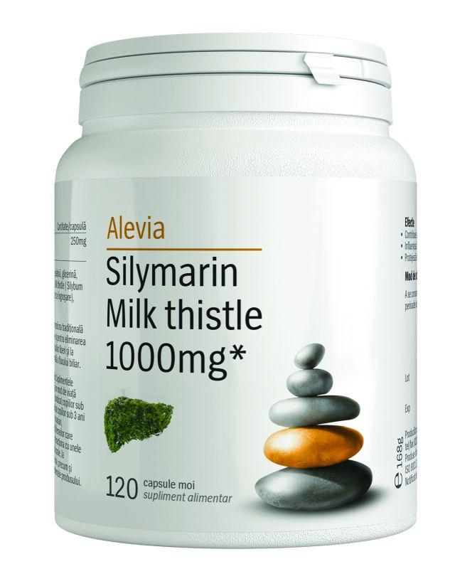 Silymarin Milk thistle 1000mg, 120 comprimate, Alevia