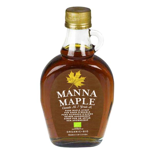 Sirop Bio de arțar pur, 250 g, Manna Maple