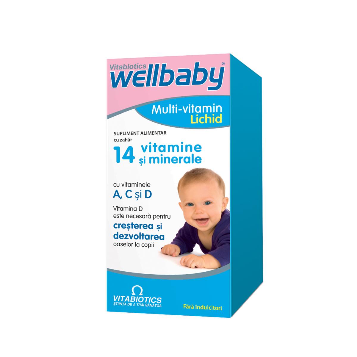 Sirop cu 14 vitamine si minerale WellBaby, 150 ml, Vitabiotics