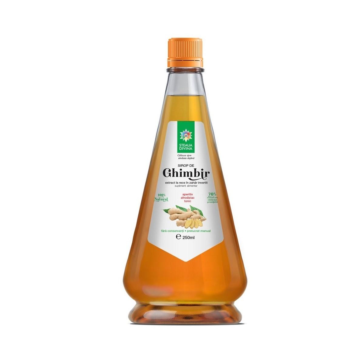 Sirop de Ghimbir, 250 ml, Steaua Divină