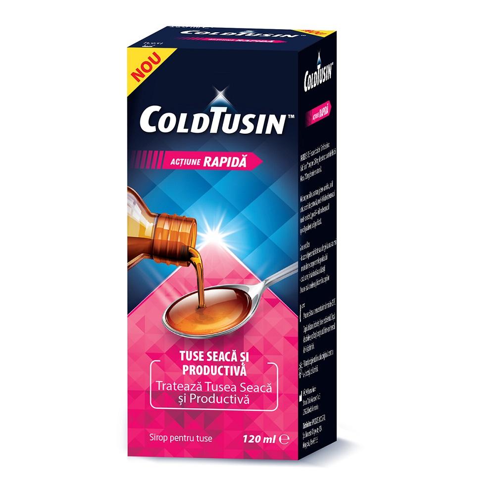 Sirop de tuse cu ingrediente naturale Coldtusin, 120 ml, Perrigo