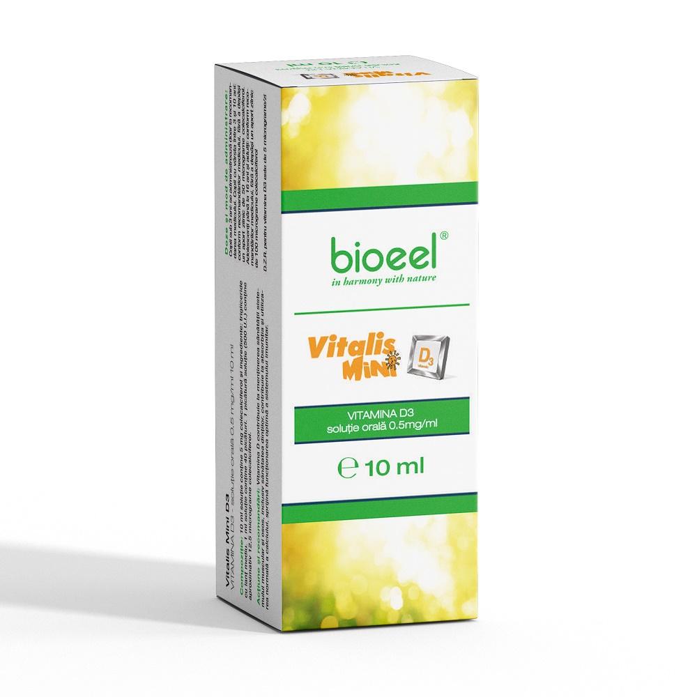Soluție orală Vitamina D3 Vitalis Mini D3, 10 ml, Bioeel